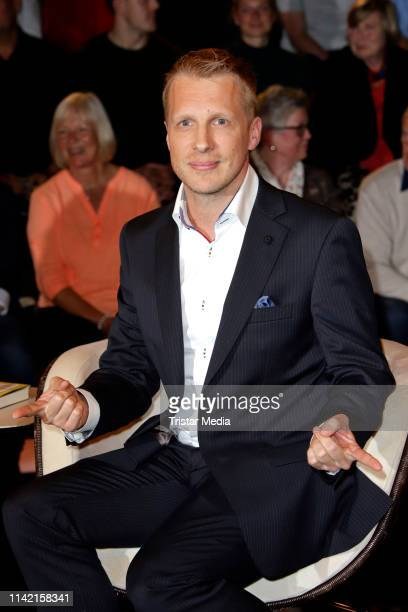 Oliver Pocher during the Markus Lanz TV show on May 7 2019 in Hamburg Germany