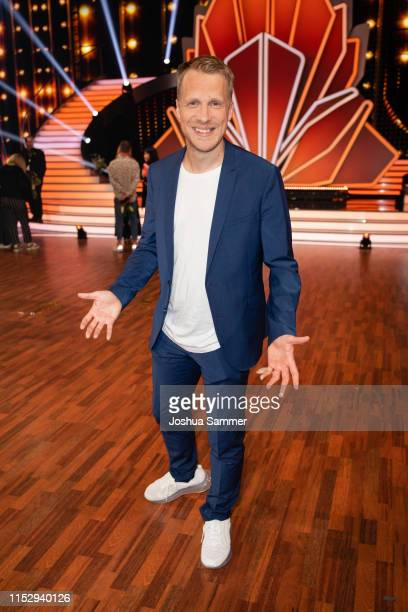 """Oliver Pocher is seen during the 10th show of the 12th season of the television competition """"Let's Dance"""" on May 31, 2019 in Cologne, Germany."""