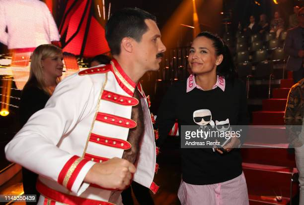 "Oliver Pocher kisses Amira Aly during the 5th show of the 12th season of the television competition ""Let's Dance"" on April 26, 2019 in Cologne,..."