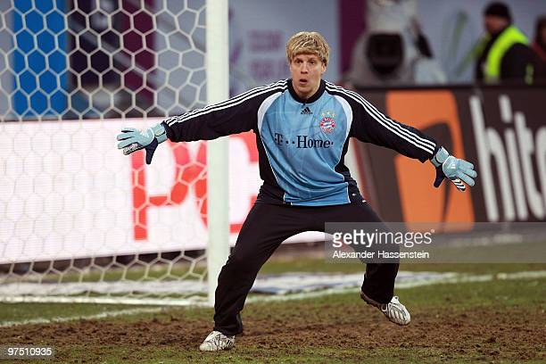 Oliver Pocher of the ran AllstarTeam reacts during the charity match for earthquake victims in Haiti between ran Allstar team and National team of...