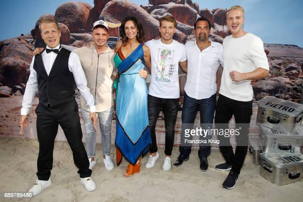 Oliver Pocher Pietro Lombardi Lilly Becker Raul Richter Ulf Kirsten and Mario Galla attend the 'Global Gladiators' exclusive preview in Berlin at...