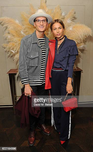 Oliver Proudlock and Emma Connolly attend 5Years of Gazelli SkinCare on November 10 2016 in London England