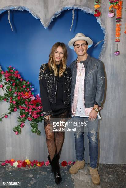 Oliver Proudlock and Emma Connolly attend Diesel Make Love Not Walls Global Event on February 19 2017 in London England