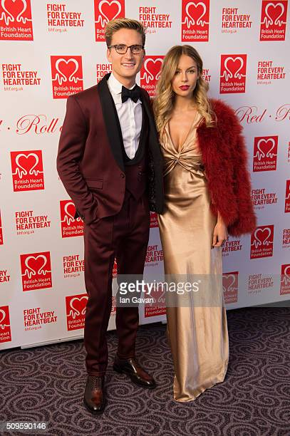 Oliver Proudlock and Emma Connolly attend the British Heart Foundation Roll Out The Red Ball at The Savoy Hotel on February 11 2016 in London England