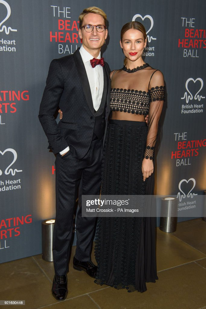Oliver Proudlock and Emma Connolly, attending the British Heart FoundationÕs Beating Hearts Ball, at The Guildhall in London, which raises funds for the BHF's life-saving research.
