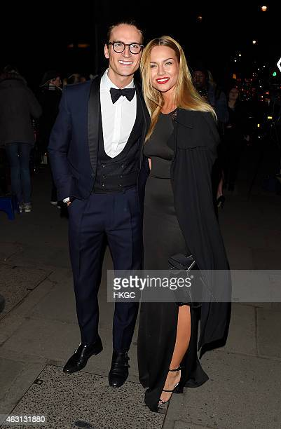 Oliver Proudlock and Emma Louise Connolly arrive at The British Heart Foundation Red Ball on February 9 2015 in London England