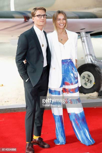 Oliver Proudlock and Emma Louise Connolly arrive at the 'Dunkirk' World Premiere at Odeon Leicester Square on July 13 2017 in London England