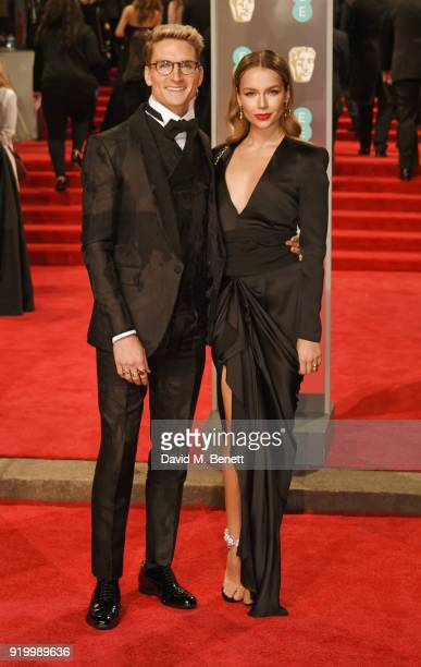 Oliver Proudlock and Emma Louise Connolly attend the EE British Academy Film Awards held at Royal Albert Hall on February 18 2018 in London England