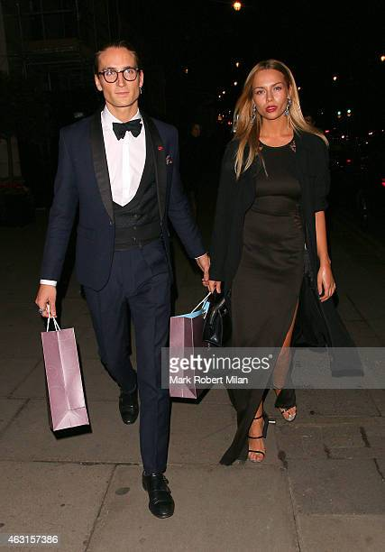 Oliver Proudlock and Emma Louise Connolly attend the inaugural Roll Out The Red Ball in aid of the British Heart Foundation at The Park Lane Hotel on...