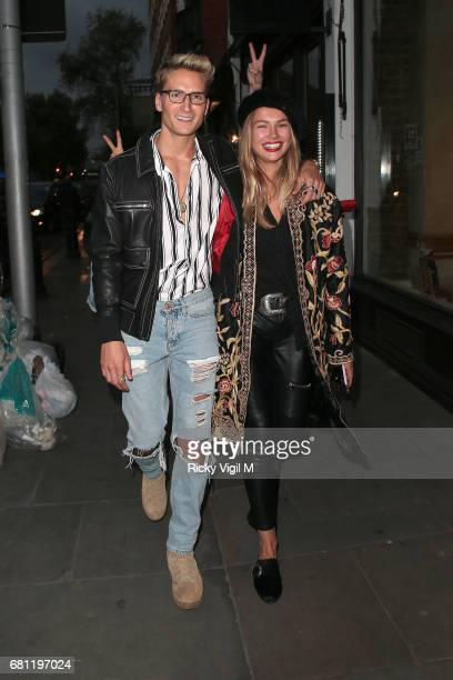Oliver Proudlock and Emma Louise Connolly attend The Ivy Chelsea Garden annual Summer Garden Party on May 9 2017 in London England