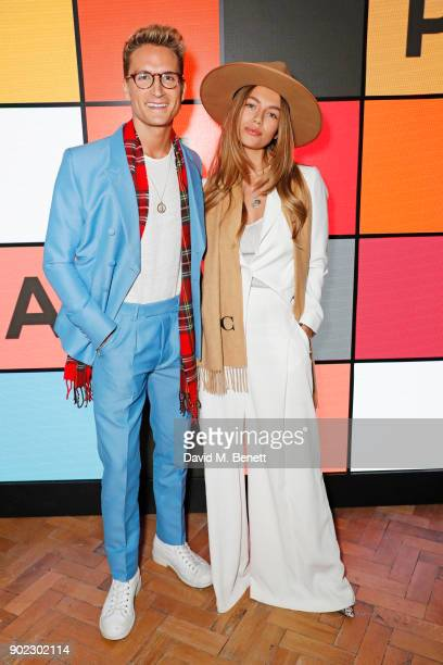 Oliver Proudlock and Emma Louise Connolly attend the Topman LFWM party at Mortimer House on January 7 2018 in London England