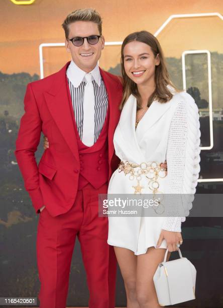 Oliver Proudlock and Emma Louise Connolly attends the Once Upon a Time in Hollywood UK Premiere at Odeon Luxe Leicester Square on July 30 2019 in...