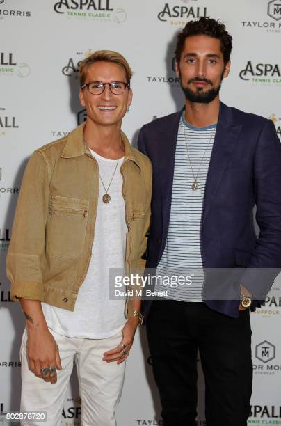 Oliver Proudlock and Hugo Taylor attend the Taylor Morris Eyewear x Aspall Tennis Classic Player's Party at Bluebird Chelsea on June 28 2017 in...