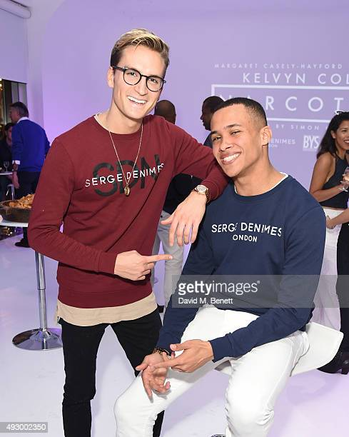 Oliver Proudlock and Kelvyn Colt attend the Kelvyn Colt Narcotic music video launch at Ice Tank on October 16 2015 in London England