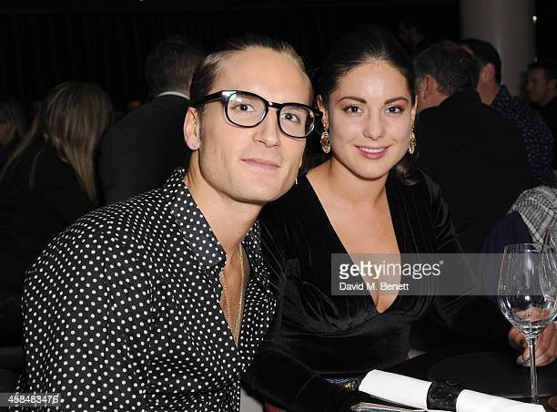 Oliver Proudlock and Louise Thompson attends as Marianne Faithful performs at Quaglino's on November 5 2014 in London England