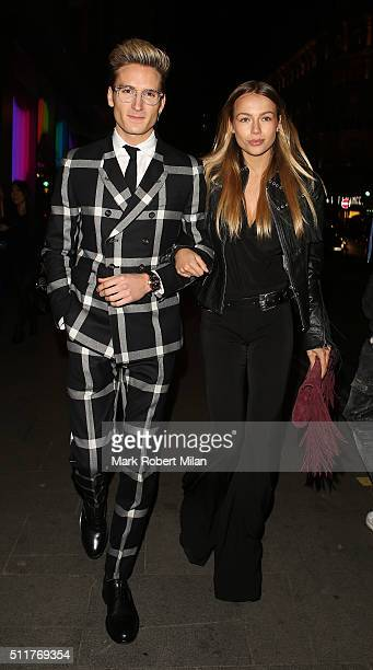 Oliver Proudlock attending the JF London a/w1617 presentation and party at the W hotel on February 22 2016 in London England