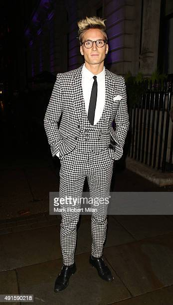 Oliver Proudlock attending the Specsavers 'Spectacle Wearer of the Year' party on October 6 2015 in London England