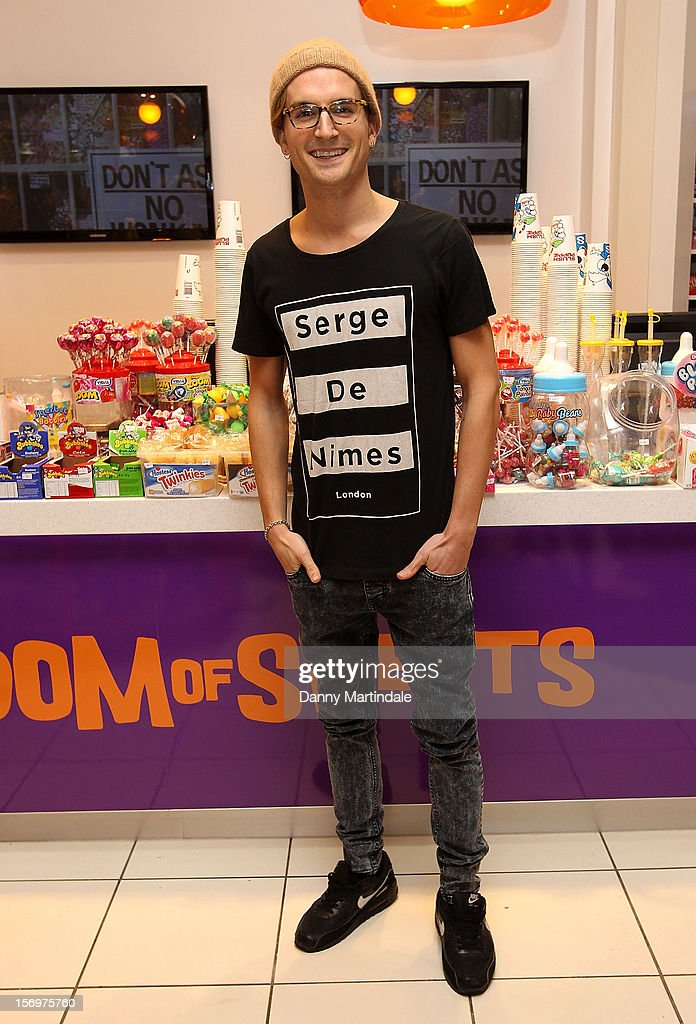 Oliver Proudlock attends a photocall to open the UK's Largest sweet shop - Kingdom of Sweets at Lakeside Shopping Centre on November 26, 2012 in Thurrock, England.