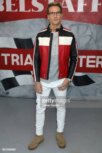 Oliver Proudlock attends the Belstaff AW18 Mens Womens Presentation during London Fashion Week Men's January 2018 on January 8 2018 in London England