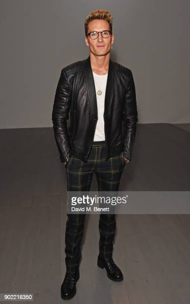 Oliver Proudlock attends the Christopher Raeburn show during London Fashion Week Men's January 2018 at BFC Show Space on January 7 2018 in London...