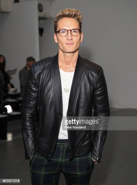 Oliver Proudlock attends the Christopher Raeburn Show during London Fashion Week Men's January 2018 at on January 7 2018 in London England