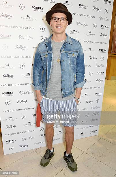 Oliver Proudlock attends the French Connection #CantHelpMySelfie launch party at French Connection Regent Street store on April 15 2014 in London...