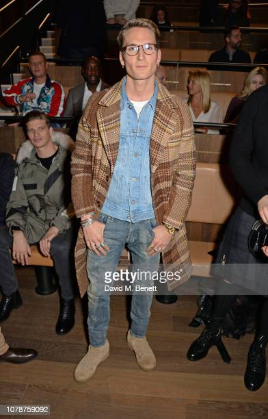 Oliver Proudlock attends the Oliver Spencer Autumn/Winter 2019 Catwalk Show during London Fashion Week Men's January 2019 at The Royal Academy on...