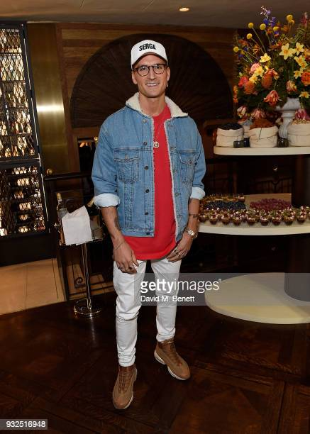 Oliver Proudlock attends the opening party for Knightbridge's newest dining offering OSH Restaurant on March 15 2018 in London England