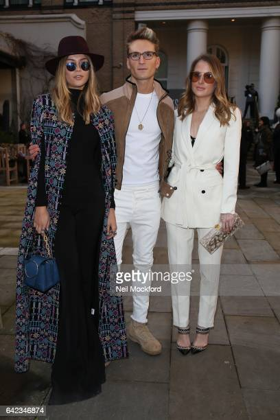 Oliver Proudlock Emma Connolly and Rosie Fortescue seen at DAKS at The Langham Hotel on Day 1 of London Fashion Week February 2017 on February 17...