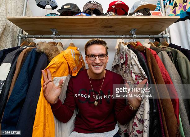 Oliver Proudlock launches the #ProudlockStyle popup shop in @BOXPARK Shoreditch in aid of the British Heart Foundation on October 21 2015 in London...