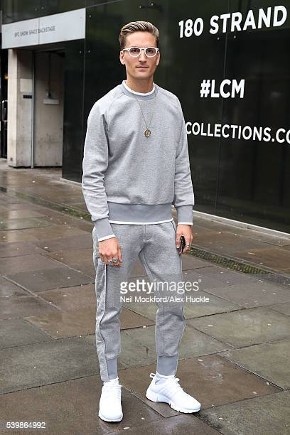 Oliver Proudlock seen at the Katie Eary s/s17 Catwalk Show at BFC Show Space on June 13 2016 in London England