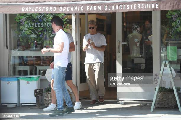 Oliver Proudlock seen with friends in Westbourne Grove on June 15 2017 in London England