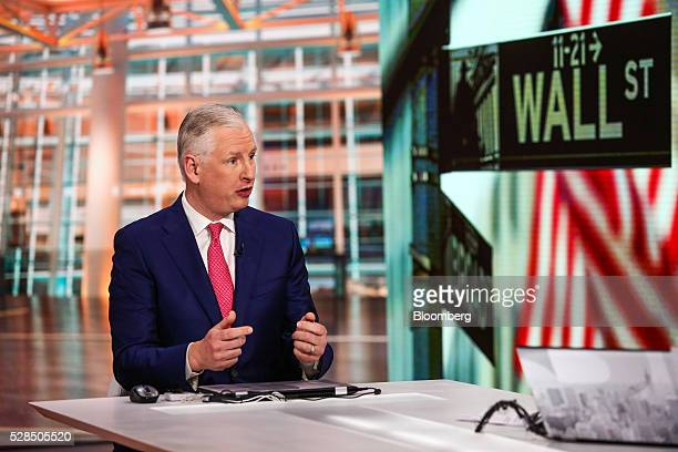 Oliver Pursche chief executive officer at Bruderman Brothers LLC speaks during a Bloomberg Television interview in New York US on Thursday May 5 2016...