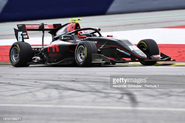 Oliver Rasmussen of Denmark and HWA Racelab drives during Day Two of Formula 3 Testing at Red Bull Ring on April 04, 2021 in Spielberg, Austria.