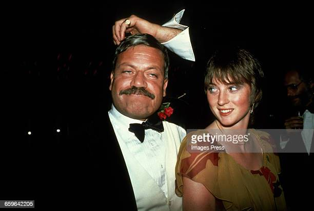 Oliver Reed and girlfriend Josephine Burge circa 1981 in New York City