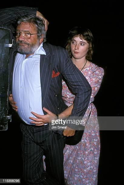 Oliver Reed and Josephine Reed during Oliver Reed at PJ Clarke's August 5 1987 at PJ Clarke's in New York City New York United States