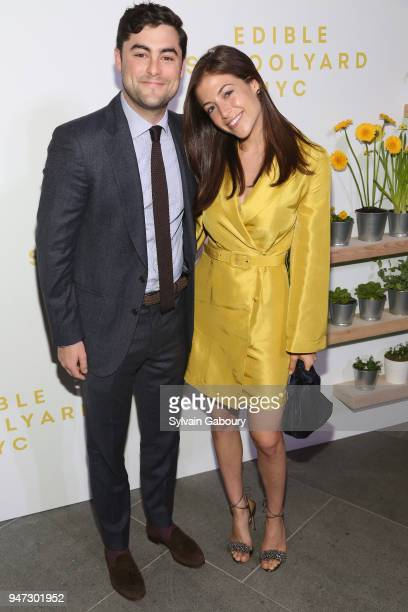 Oliver Ressler and Megan Bressman attend Edible Schoolyard NYC 2018 Spring Benefit at 180 Maiden Lane on April 16 2018 in New York City