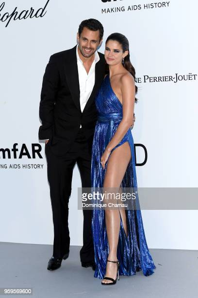Oliver Ripley and Sara Sampaio arrive at the amfAR Gala Cannes 2018 at Hotel du CapEdenRoc on May 17 2018 in Cap d'Antibes France