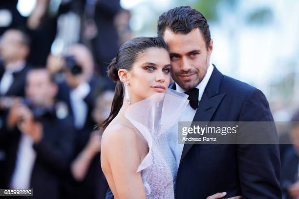Oliver Ripley and Sara Sampaio attend the 120 Beats Per Minute screening during the 70th annual Cannes Film Festival at Palais des Festivals on May...