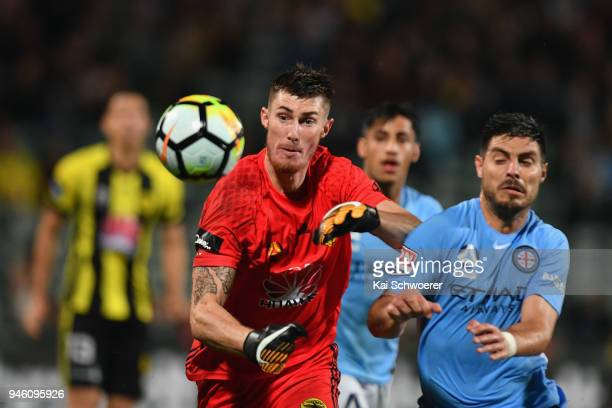 Oliver Sail of the Phoenix makes a save during the round 27 ALeague match between the Wellington Phoenix and Melbourne City FC at QBE Stadium on...