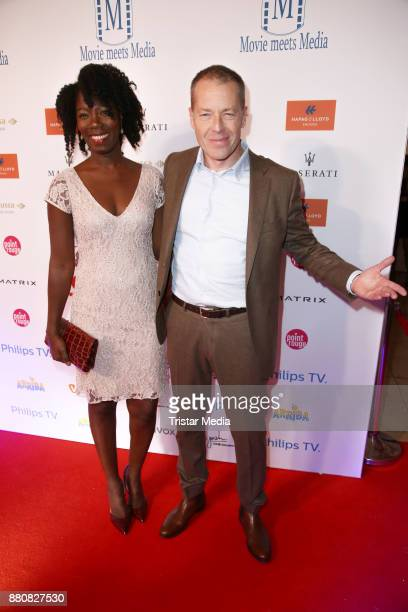 Oliver Sauer and Dayne Kodua attend the Movie Meets Media event 2017 at Hotel Atlantic Kempinski on November 27 2017 in Hamburg Germany