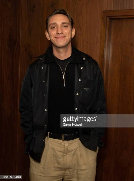 Oliver Sim attends the Radio 1 leaving party for Annie Mac at The London EDITION on July 30, 2021 in London, England.