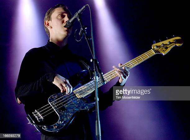 Oliver Sim of The xx performs as part of the 2013 Coachella Valley Music Arts Festival at the Empire Polo Field on April 13 2013 in Indio California