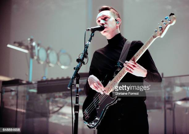 Oliver Sim of The XX performs at O2 Apollo Manchester on March 6 2017 in Manchester United Kingdom