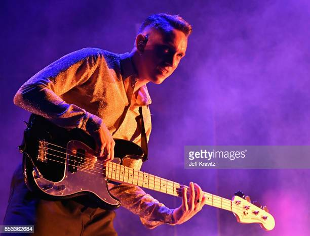 Oliver Sim of The xx performs on Downtown Stage during day 3 of the 2017 Life Is Beautiful Festival on September 24 2017 in Las Vegas Nevada