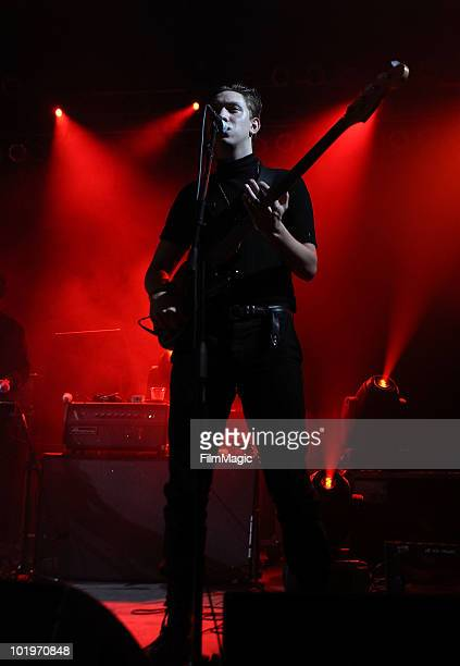 Oliver Sim of The xx performs onstage during Bonnaroo 2010 at That Tent on June 10, 2010 in Manchester, Tennessee.