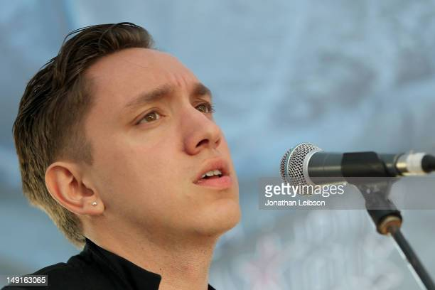Oliver Sim performs at the 987 FM Penthouse Party Presents The xx Exclusive Live Performance at The Historic Hollywood Tower on July 23 2012 in...