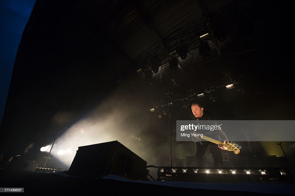 Oliver Sim performs at The Night and Day Festival Hatfield House on June 23, 2013 in Hatfield, England.
