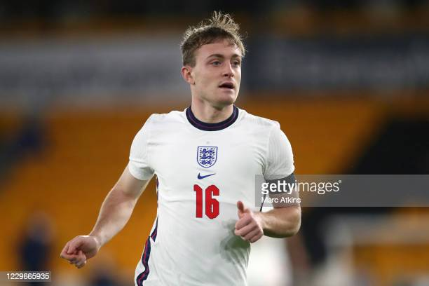 Oliver Skipp of England during the UEFA Euro Under 21 Qualifier match between England U21 and Albania U21 at Molineux on November 17, 2020 in...