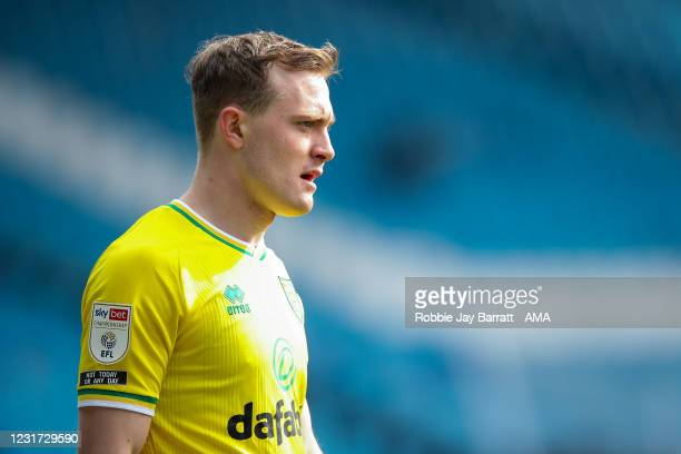 Oliver Skipp of Norwich City during the Sky Bet Championship match between Sheffield Wednesday and Norwich City at Hillsborough Stadium on March 14,...